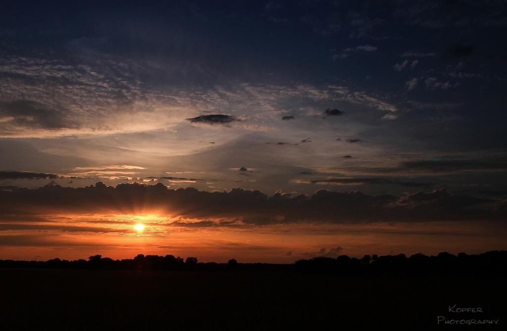 Sonnenuntergang im Münsterland